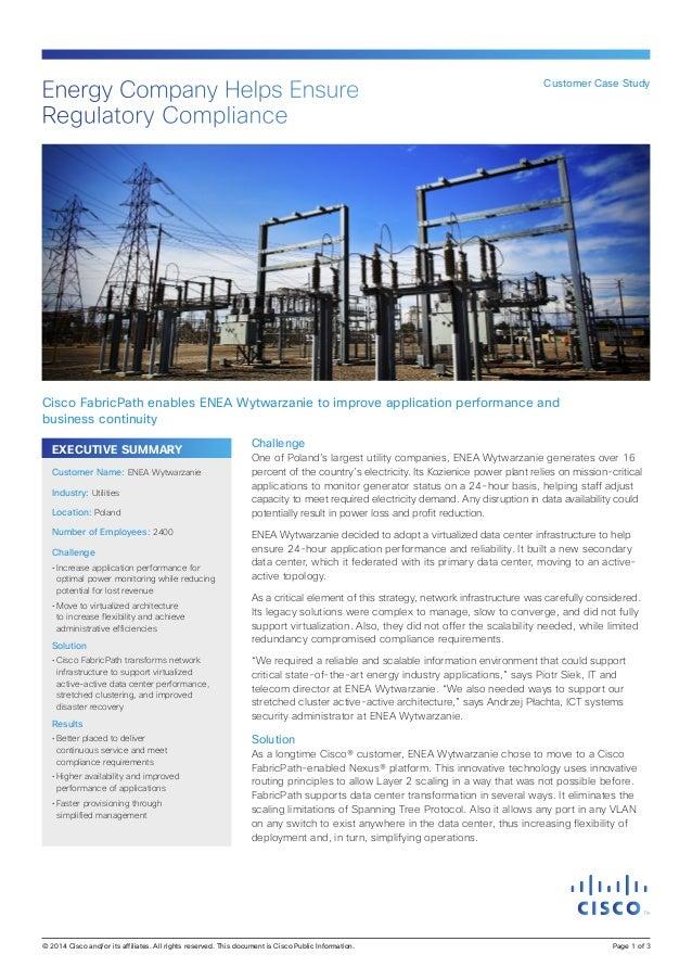 EXECUTIVE SUMMARY Challenge One of Poland's largest utility companies, ENEA Wytwarzanie generates over 16 percent of the c...