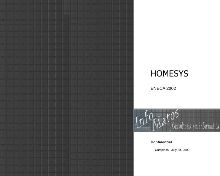 HOMESYS ENECA 2002 Confidential