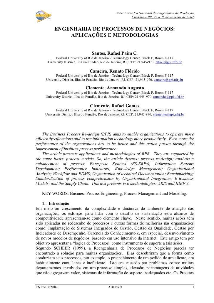 XXII Encontro Nacional de Engenharia de Produção                                                              Curitiba – P...