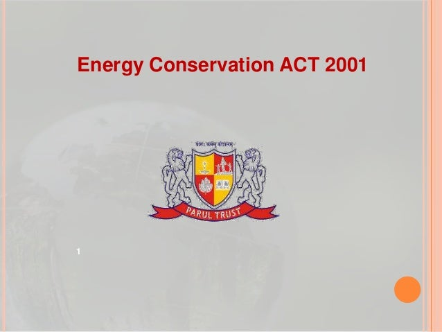 Energy Conservation ACT 2001  1