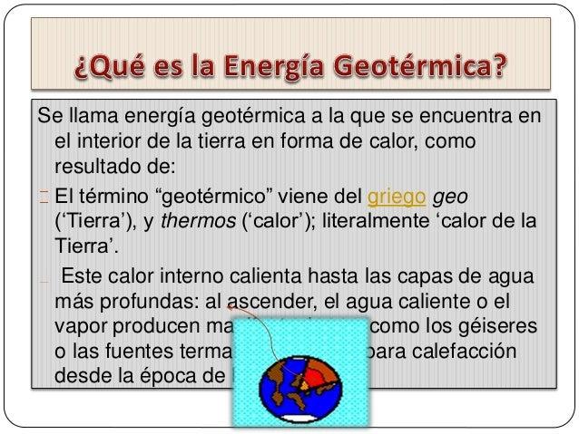 Enegia geotermica - En que consiste la energia geotermica ...