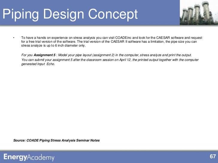 coade pipe stress analysis seminar notes
