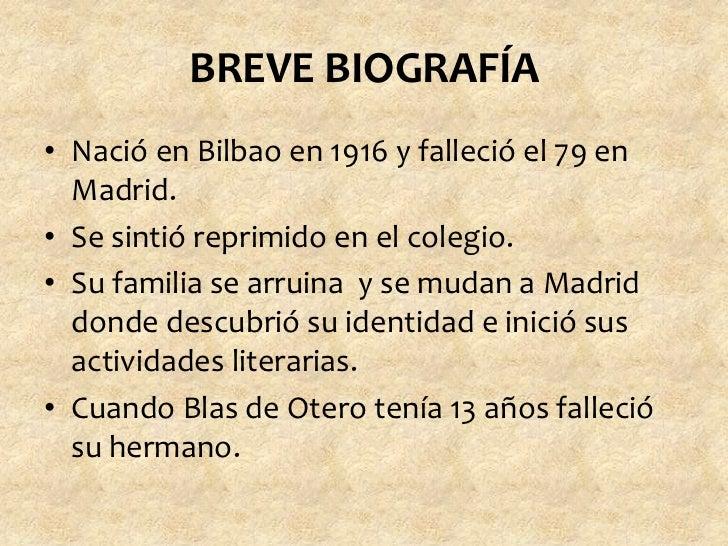 En El Principio Blas De Otero