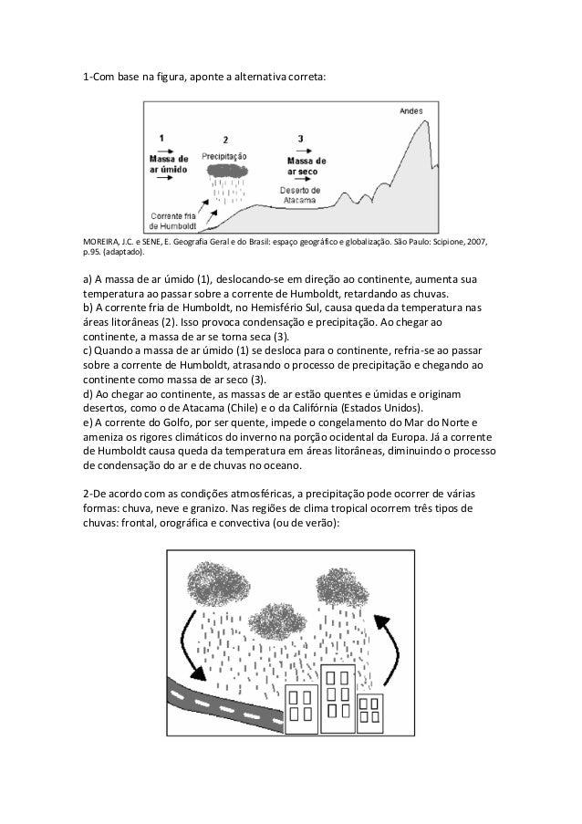 1-Com base na figura, aponte a alternativa correta:MOREIRA, J.C. e SENE, E. Geografia Geral e do Brasil: espaço geográfico...