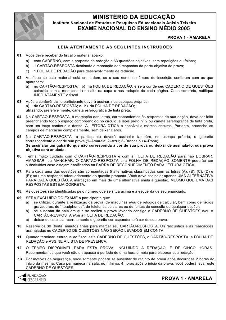 MINISTÉRIO DA EDUCAÇÃO                    Instituto Nacional de Estudos e Pesquisas Educacionais Anísio Teixeira          ...