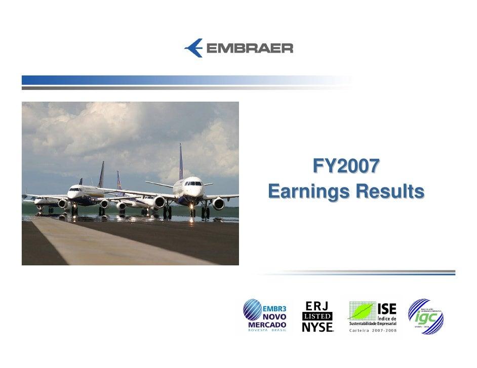 FY2007 Earnings Results