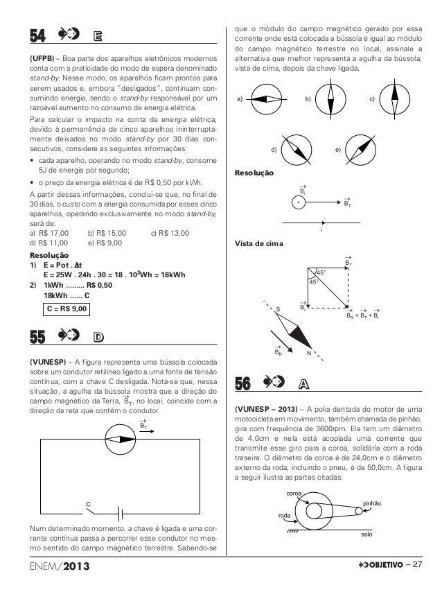 Simulado ENEM(2013) da Objetivo com resolução comentada.