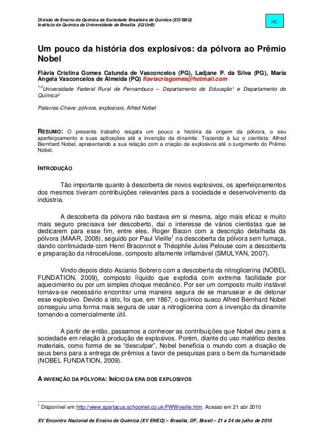 Divisão de Ensino de Química da Sociedade Brasileira de Química (ED/SBQ)                            HCInstituto de Química...