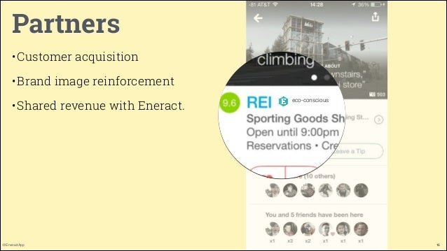 Partners • Customer acquisition • Brand image reinforcement • Shared revenue with Eneract.  @EneractApp  eco-conscious  15