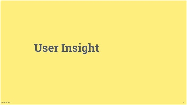 User Insight  @EneractApp  4