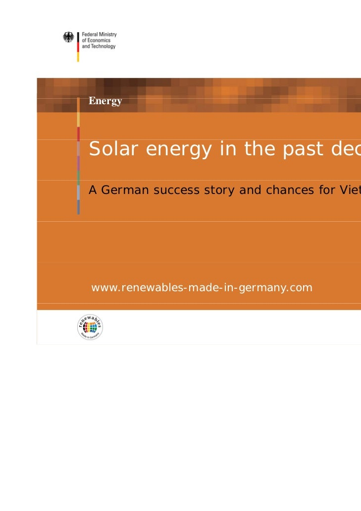 placeholder                                                 partner logoEnergySolar energy in the past decadeA German succ...