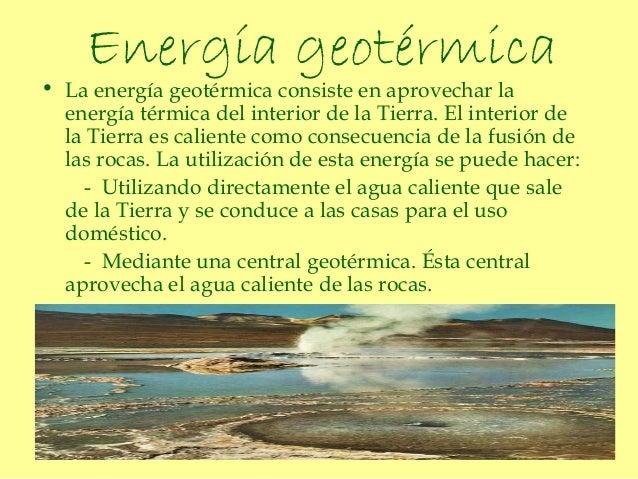 Energ a - En que consiste la energia geotermica ...
