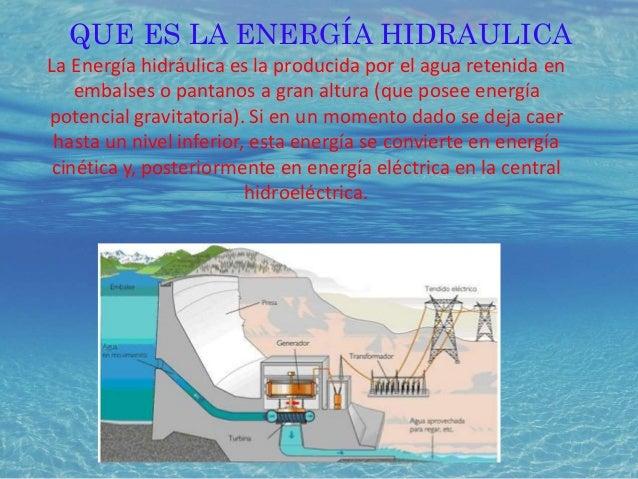 Energía hidráulica webquest