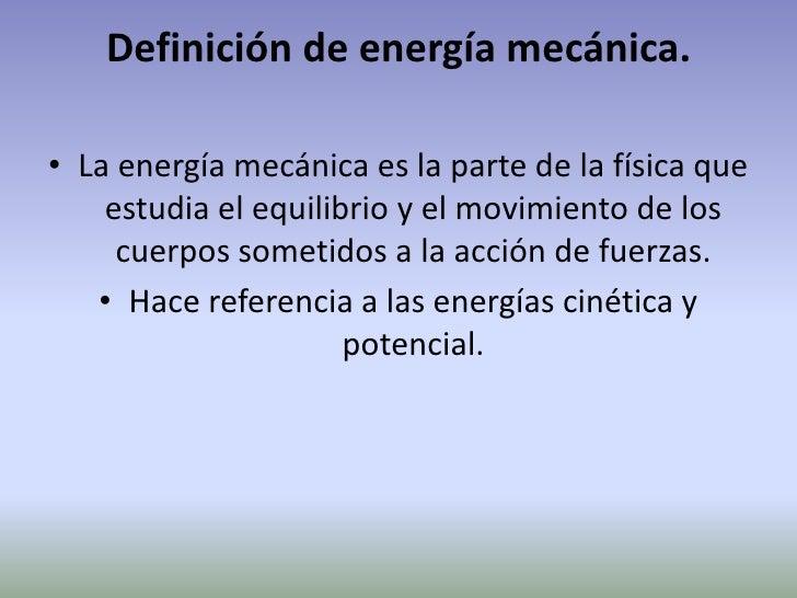 Energ a mec nica for Fuera definicion