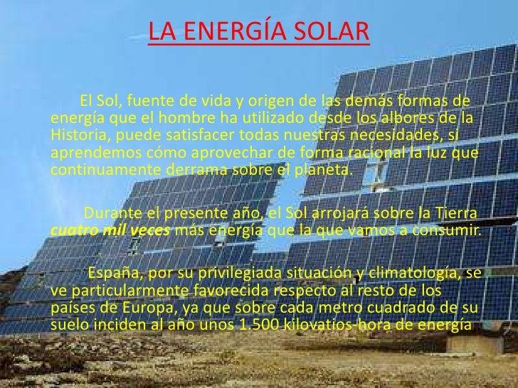 EnergíA Solar Slide 2