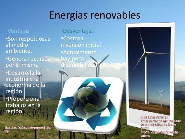 Energías Renovables Ventajas Y Desvenyajas