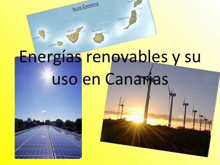 energ as renovables en canarias