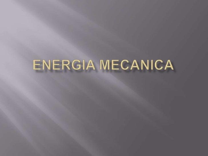 Energiamecanica<br />