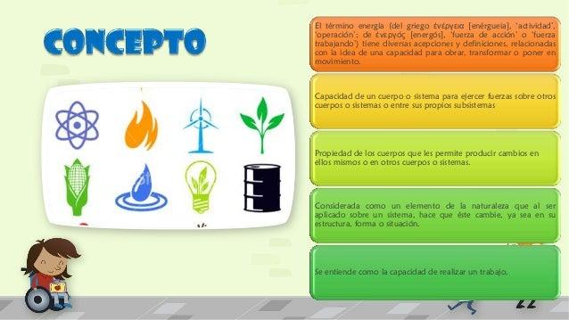 Las principales  características de la  energía son:  Puede transferirse de unos  sistemas a otros.  Puede ser almacenada ...