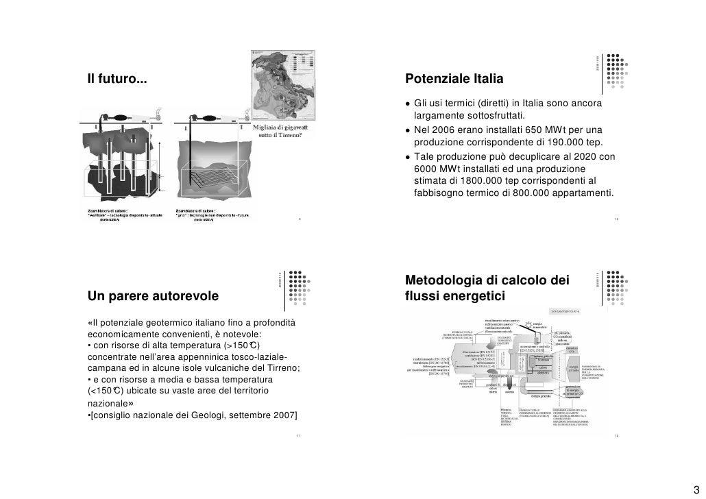 Energia geotermica for Calcolo fabbisogno termico