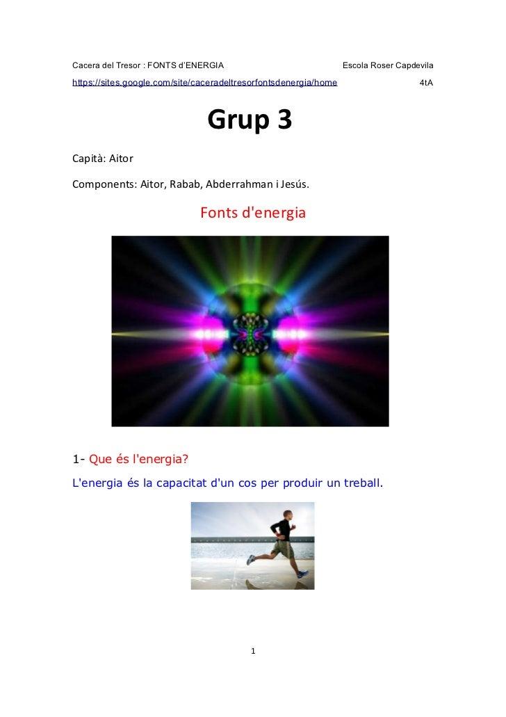 Fonts d'Energia - Grup 3
