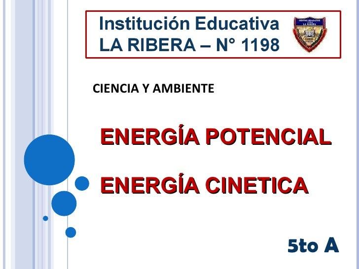 ENERGÍA POTENCIAL ENERGÍA CINETICA 5to A CIENCIA Y AMBIENTE
