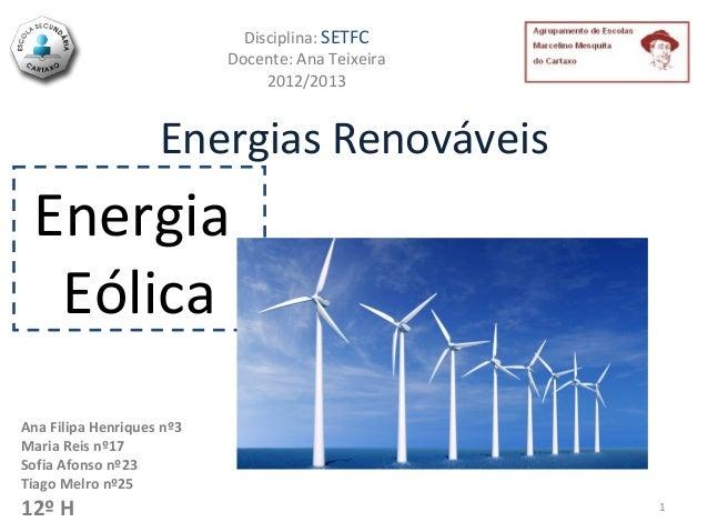 Disciplina: SETFC                           Docente: Ana Teixeira                                2012/2013                ...