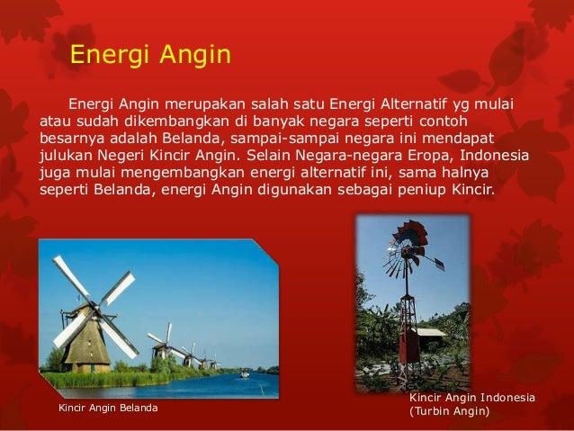 Energi Alternatif Angin Fisika Kls 8