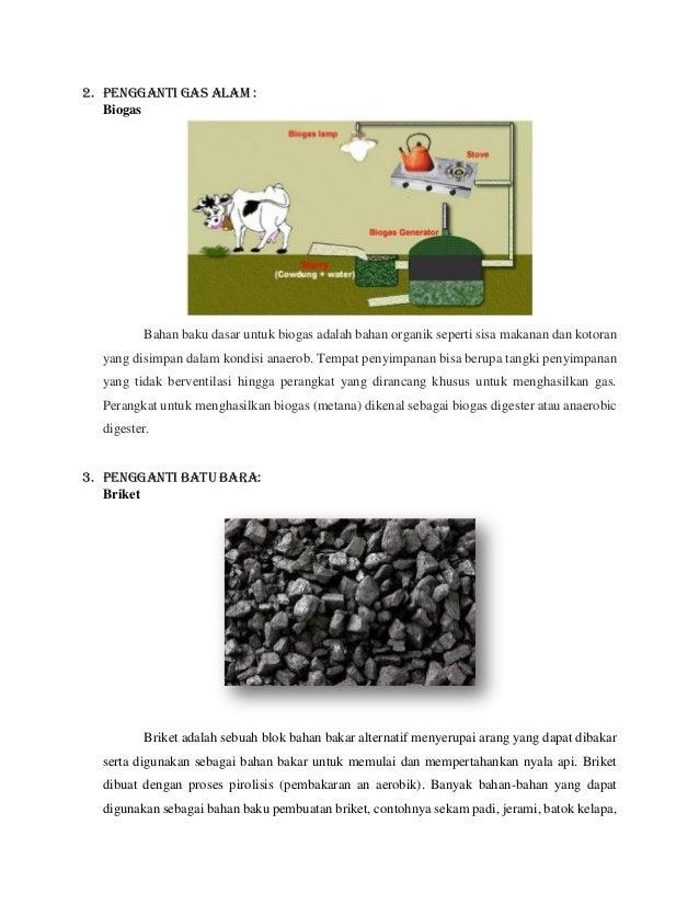 Energi Alternatif Minyak Bumi Gas Alam Dan Batu Bara