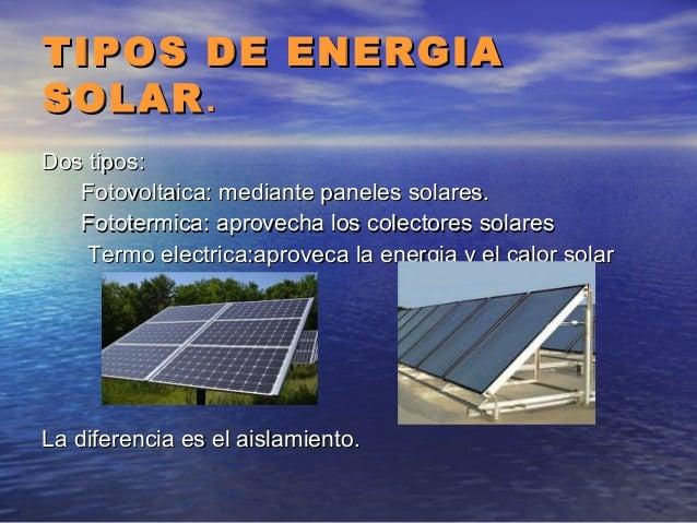 Energia solar - Tipos de paneles solares ...