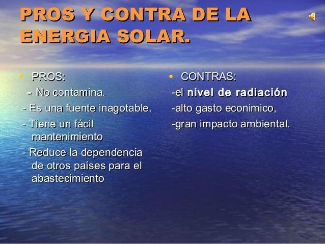 Energia solar for Hormigon impreso pros y contras