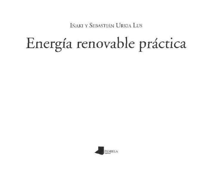 Energía renovable práctica