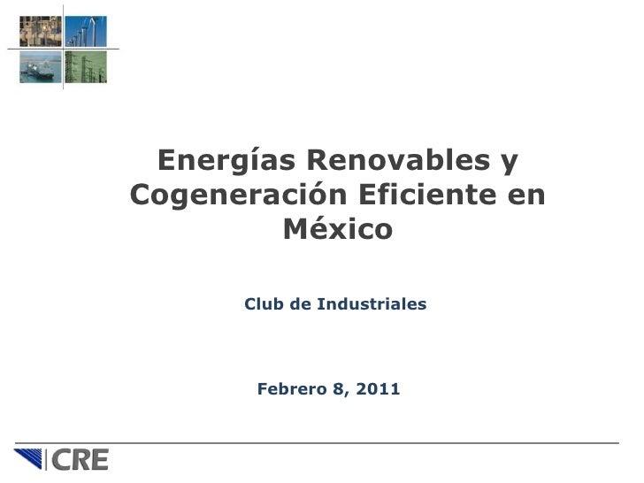 Energias renovables en México