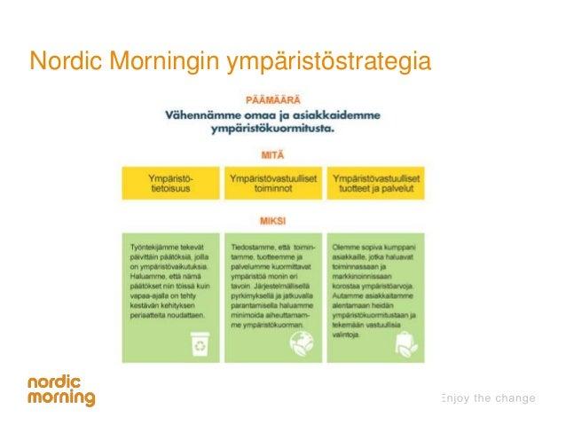 Nordic Morningin ympäristöstrategia