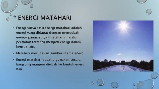 Energi dalam sistem kehidupan