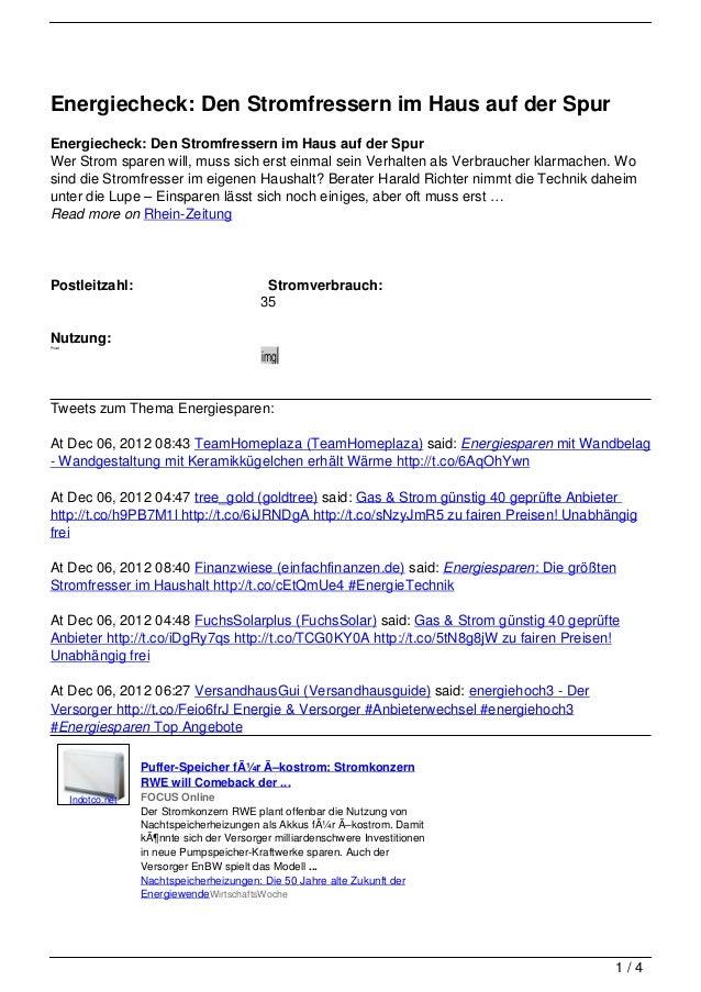 Energiecheck: Den Stromfressern im Haus auf der SpurEnergiecheck: Den Stromfressern im Haus auf der SpurWer Strom sparen w...