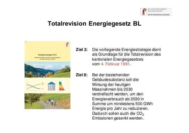 Ziel 2: Die vorliegende Energiestrategie dient als Grundlage für die Totalrevision des kantonalen Energiegesetzes vom 4. F...