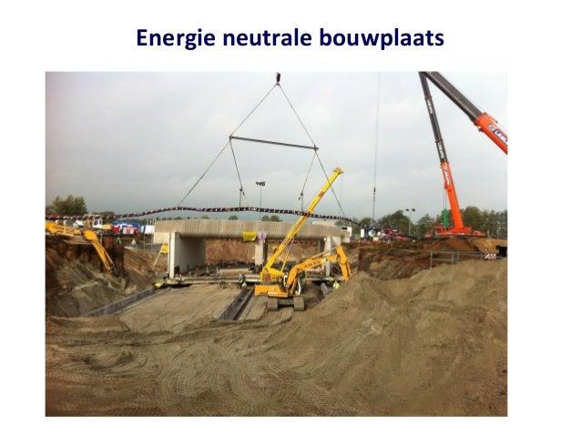 Energie neutrale bouwplaats