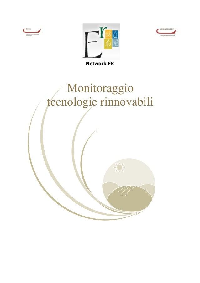 Network ER    Monitoraggiotecnologie rinnovabili