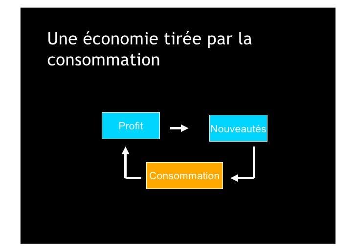 Une économie tirée par laconsommation        Profit             Nouveautés                 Consommation