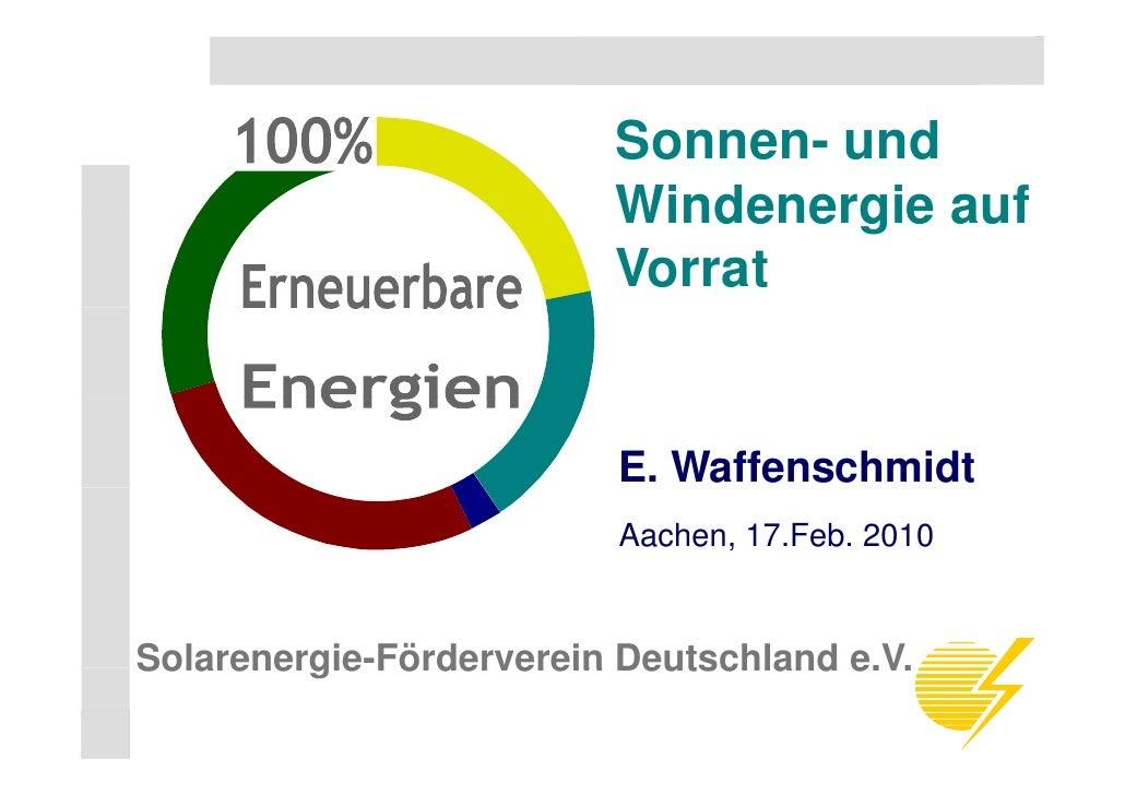 Solarenergie-Förderverein Deutschland e.V.                                    Sonnen- und                                 ...