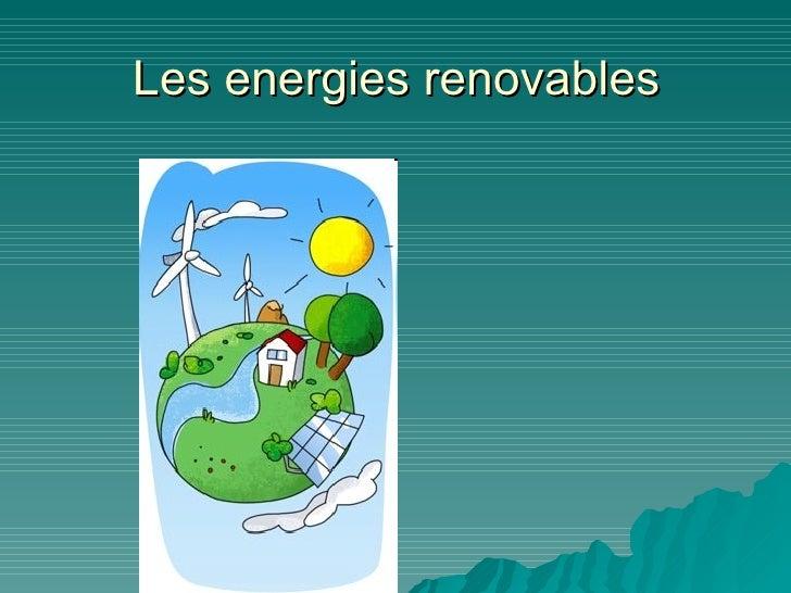 Les energies renovables