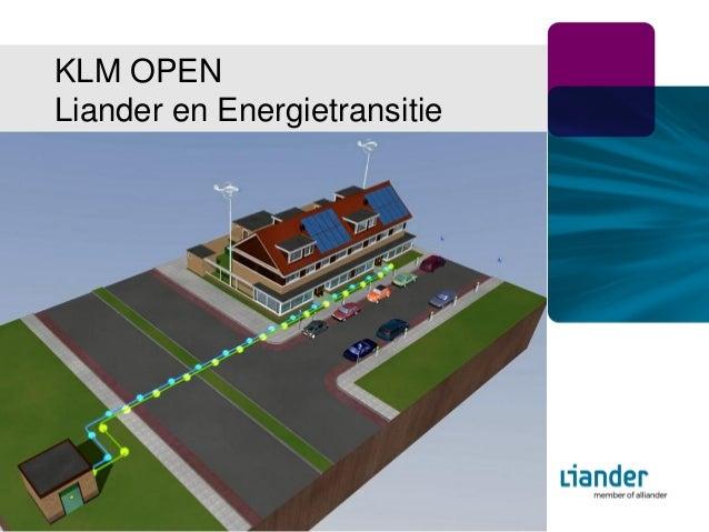 KLM OPENLiander en EnergietransitieApril 2012