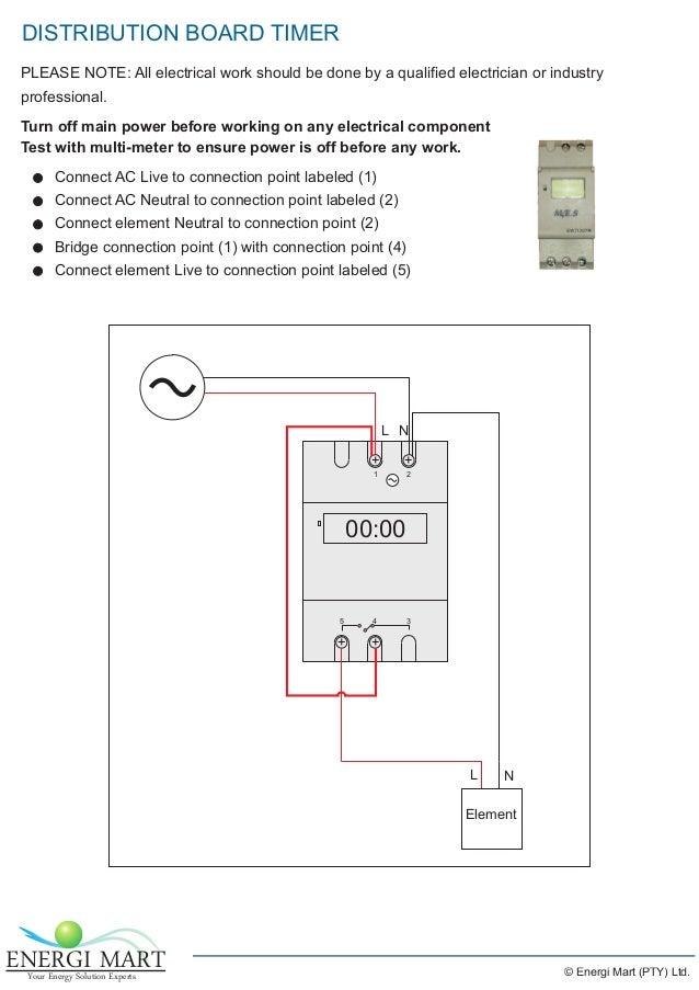 Energimart pv water heating installation guide 6 distribution board timer swarovskicordoba Gallery