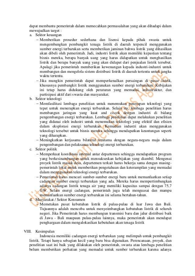 Energi Terbarukan Untuk Indonesia Terjemah Paper Ieee