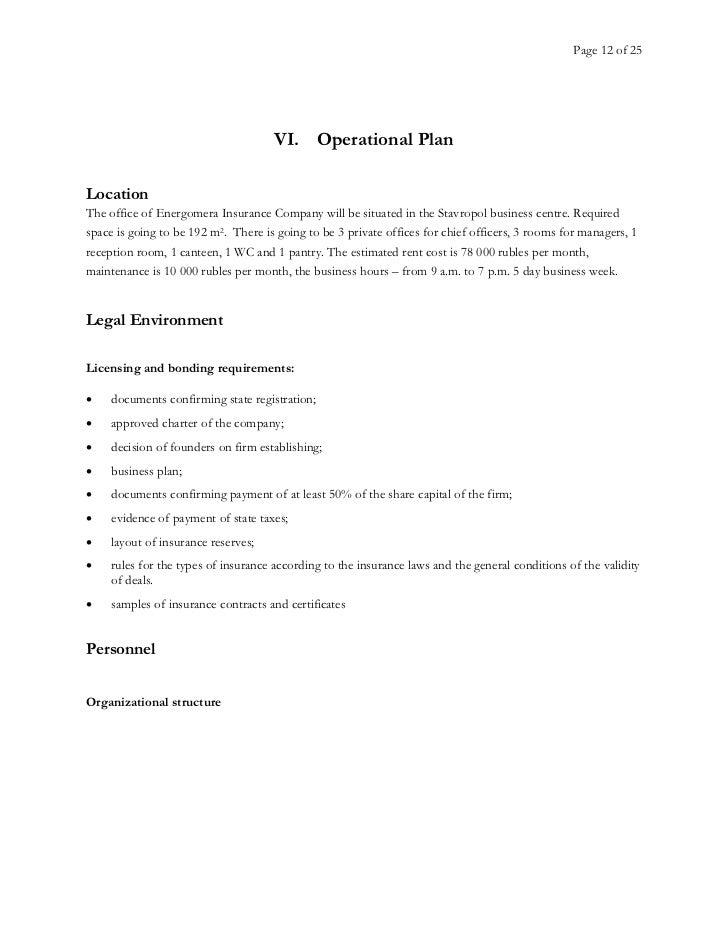 business plan insurance