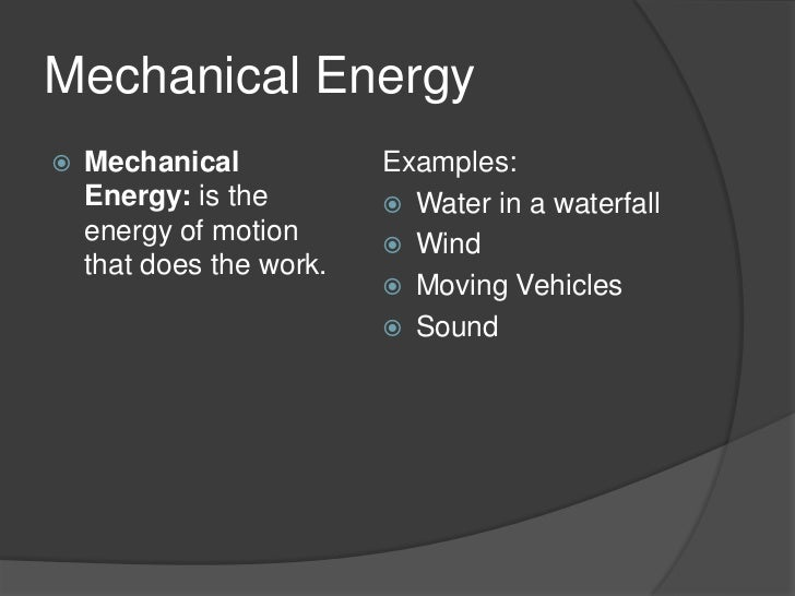 how to solve for mechanical energy