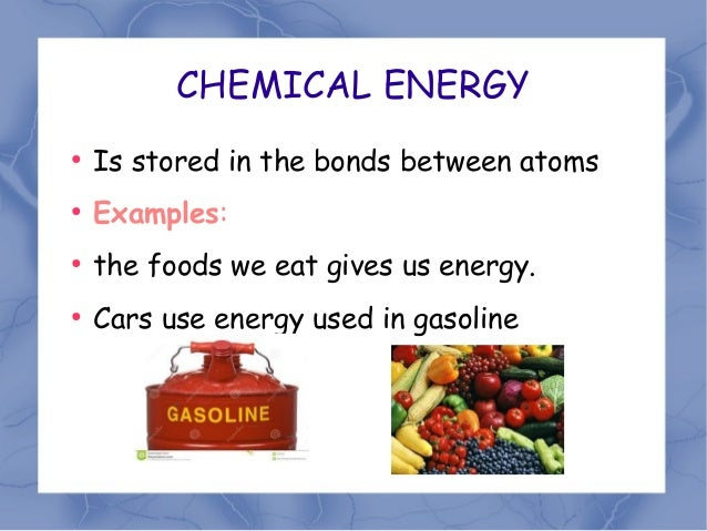 Energy Stored In Food Is What Energy