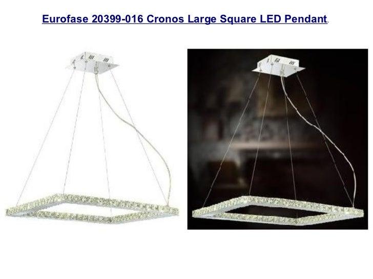 Energy efficient led chandeliers eurofase 20399 016 cronos large square led pendant aloadofball Gallery