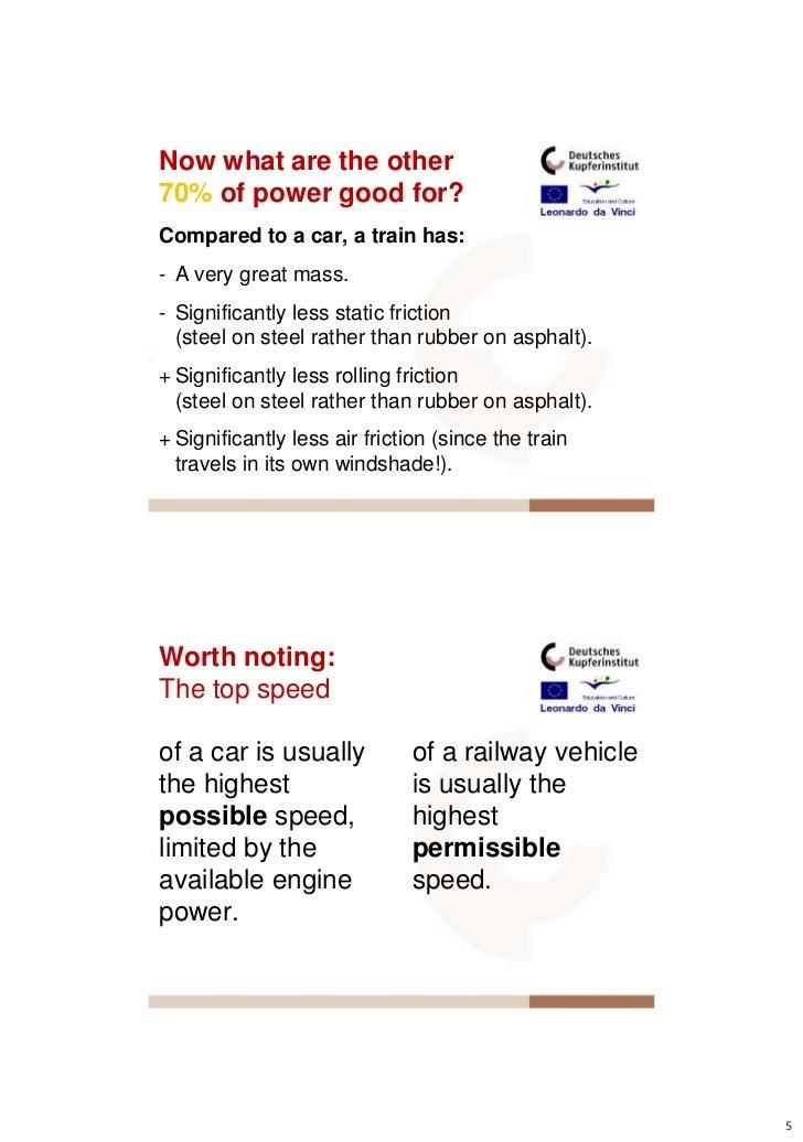 Energy Efficient Railway Transportation